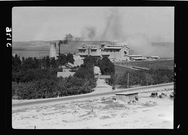 "Zionist activities around Haifa. Haifa, The Nesher Cement Works. ""Eagle"""