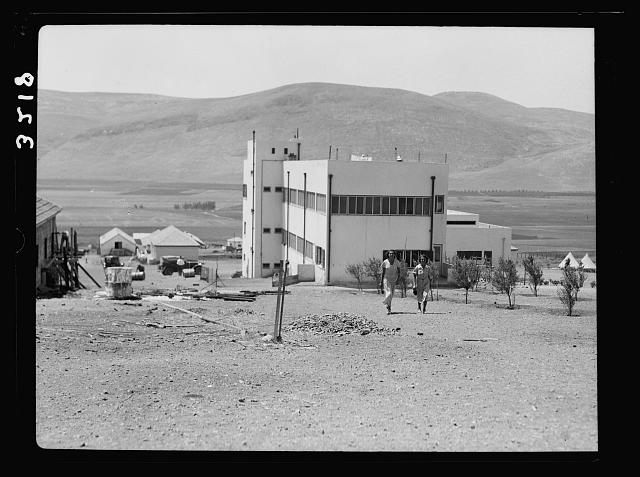 "The Keren Hayesod. Agricultural Colonies on Plain of Esdraelon ""The Emek."" Ein Harod, Childrens' Home. Mts. of Gilboa in background"