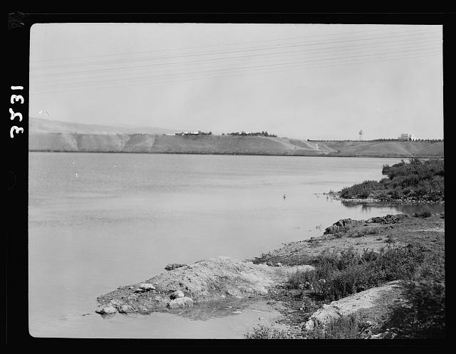 The Palestine Electric Corporation Power Plant. Otherwise known as Rutenberg's Jordan Power Plant. The P.E.C. Yarmuk Reservoir. A lake formed to hold water in storage