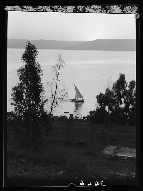 Northern views. Lake Galilee. Dawn of day