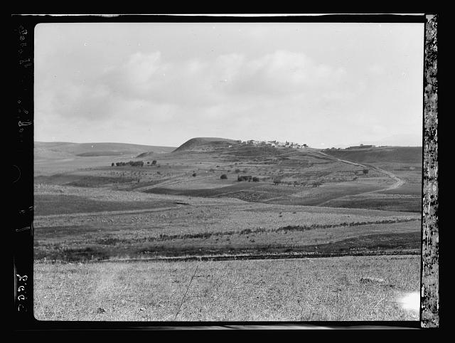 The Jordan Valley north of Lake Galilee. Tell Abl. Abel-Main