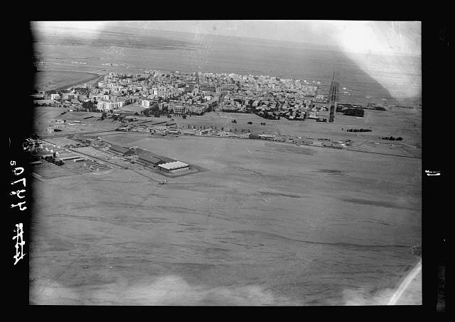 Air views of Palestine. Flight from Gaza to Cairo via Ismalieh. Heliopolis. A general view showing the aerodrome of the Imperial Airways, Ltd.