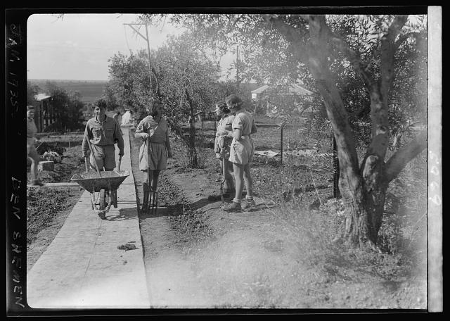 Ben Shemen. Childrens' Agricultural Colony, Jan. 1935