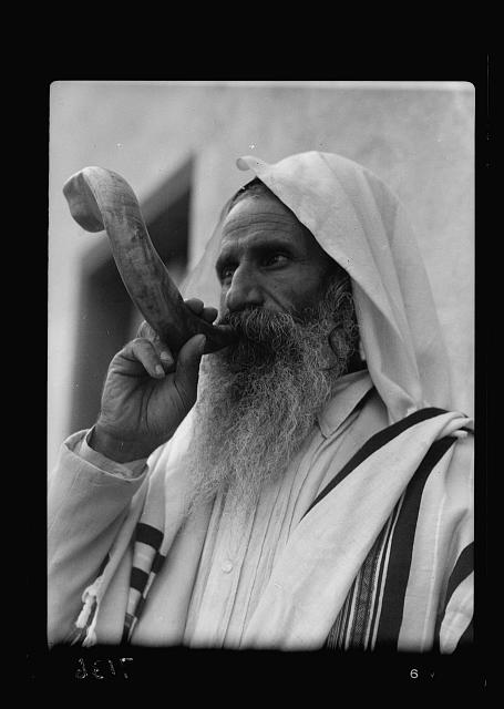 Shofar. Sabbath horn. Yemenite Jew
