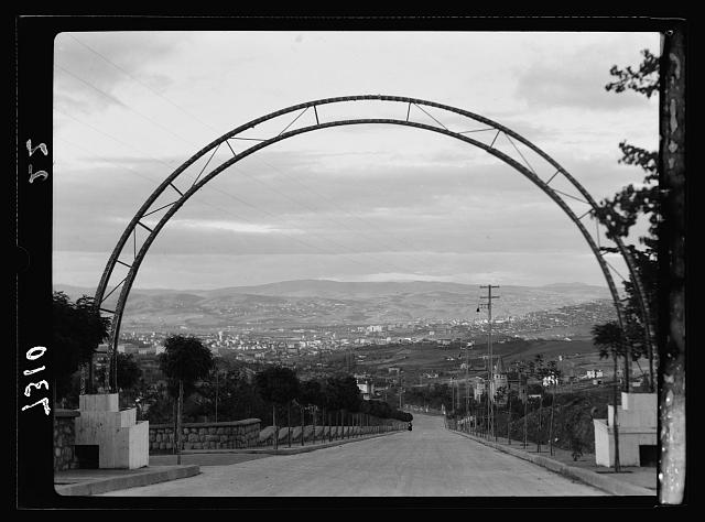 Turkey. Ankara from Yeni Shehir through steel arch