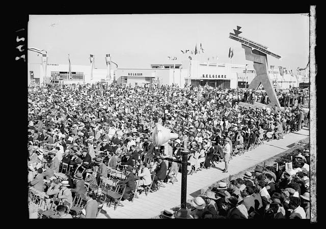 Opening of Levant Fair. Tel-Aviv Ap[ril] 30, 1936. Crowds seated for opening ceremony