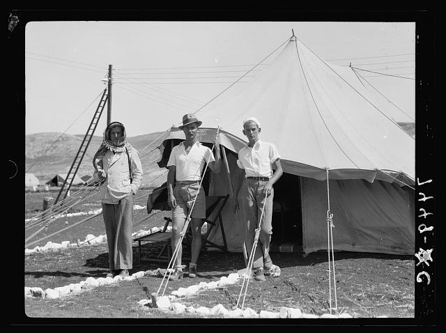 I.P.C. [i.e., Iraq Petroleum Company] camp. A camp manager outside his tent