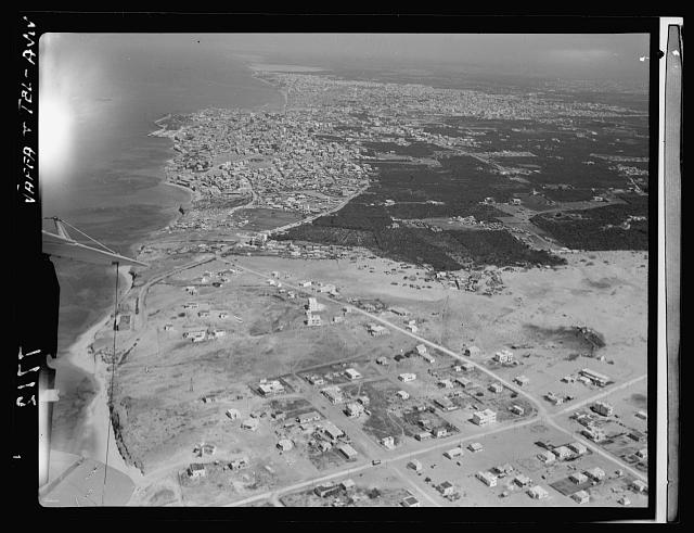 Air films (1937). Jaffa & Tel-Aviv from the south