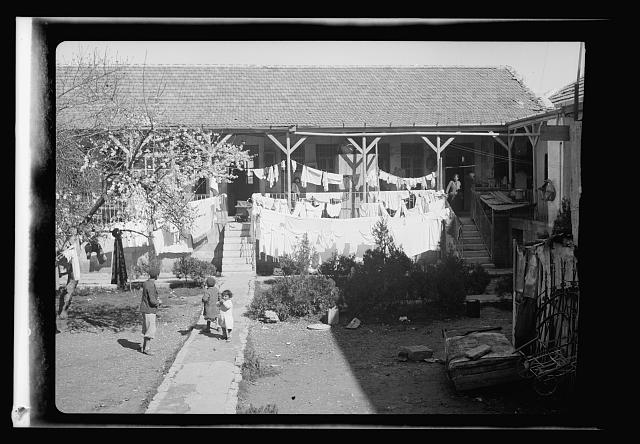 [Jewish homes in tenement building, Bukharan Quarter, Jerusalem]
