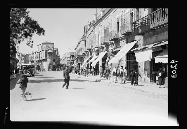 Palestine disturbances 1936. The Jerusalem business centre again bristles with activity on October 12, 1936 after nearly six months of close doors
