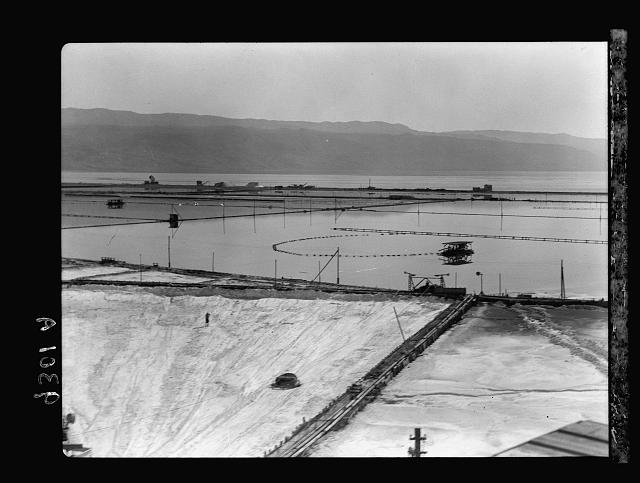 Dead Sea Album, prepared for the Palestine Potash Ltd. A drying or evaporating pans on north end of Dead Sea Potash Works