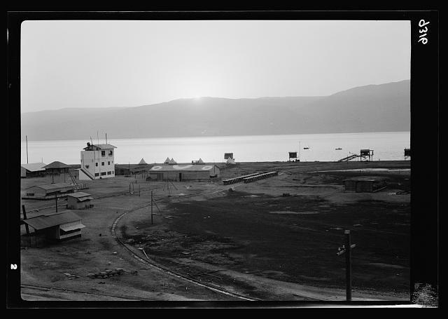 Dead Sea Album, prepared for the Palestine Potash Ltd. Sunrise over the camp at Usdum