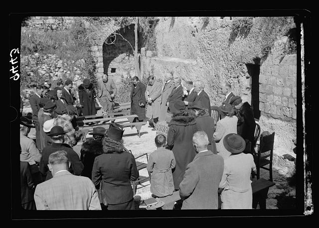 Easter morning at the Garden Tomb, April 9, 1939. Prayer
