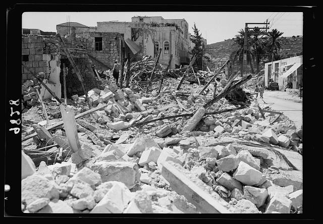 Jenin, Sept. 3, 1938. Closer view of ruins in Jenin