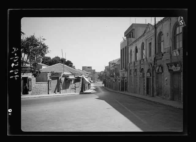Deserted Jaffa Road looking toward the Jaffa Gate