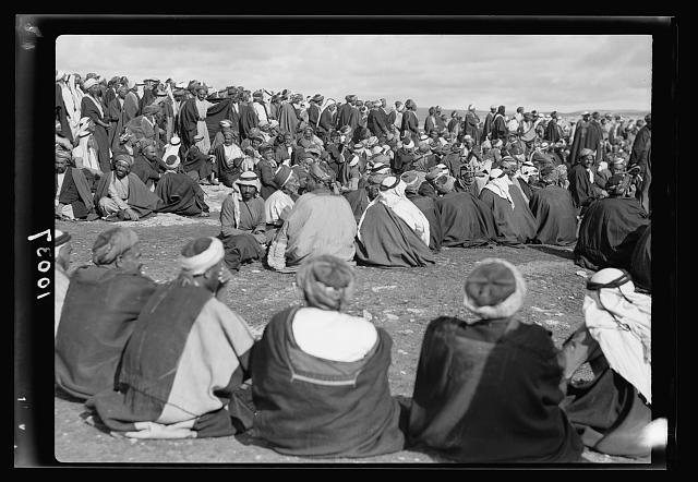 Arab demonstration at Yatta. General view of the Arab peasantry there