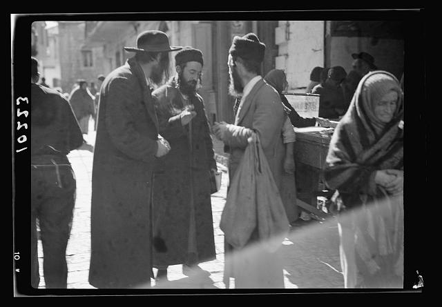 Group of Jews in Mea Shearim Quarter