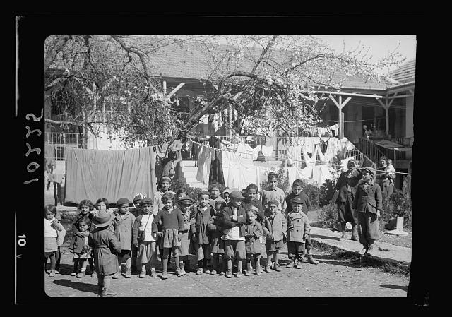 Tenement children just home from school, Bokhara [i.e., Bukhara] Qu[arter]