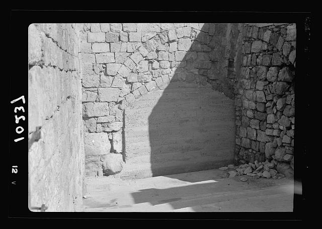 Arched street between Arab & Jewish Quarters sealed up with concrete walls [Jerusalem]