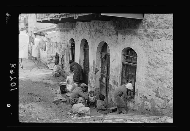 A scene in a Jewish Yemenite quarter