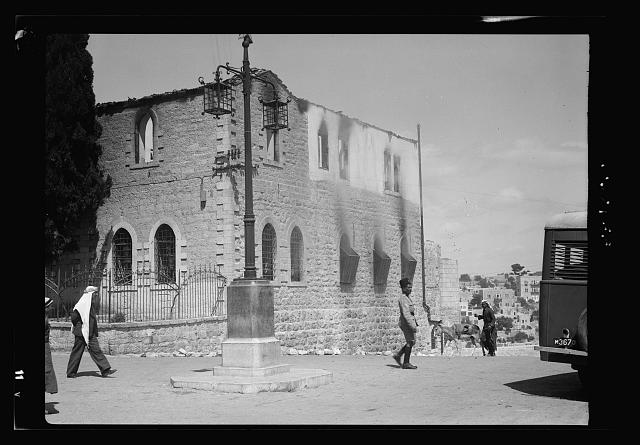 Bethlehem police barracks and post office burned by Arab rebels