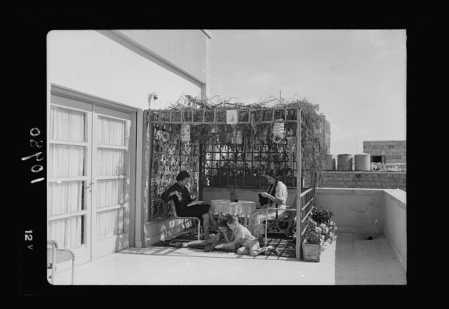 A tabernacle in a Jer. [i.e., Jerusalem] Quarter of European Jews. Rehavia, Mr. Bassam's flat