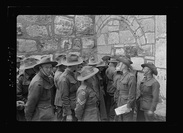 Aust. [i.e., Australian] soldiers in Bethlehem Church [Church of the Nativity] & Gethsemane Basilica