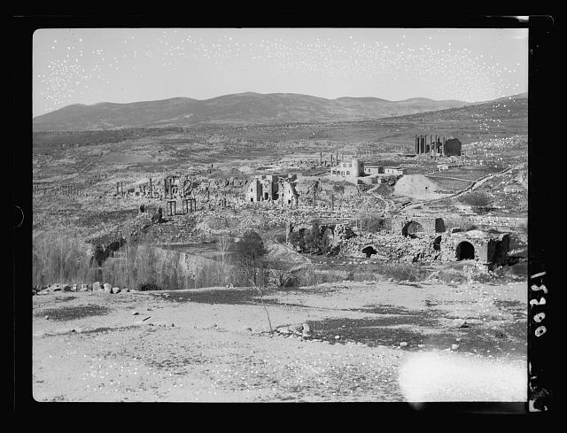 Jerash. Gen[eral] view looking S. from hills on N. side
