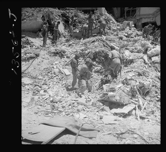 Hotel King David, crash of (hotel) on Monday July 22, 1946
