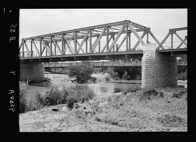 Road to Jericho, Jordan, etc. Allenby Bridge over the River Jordan