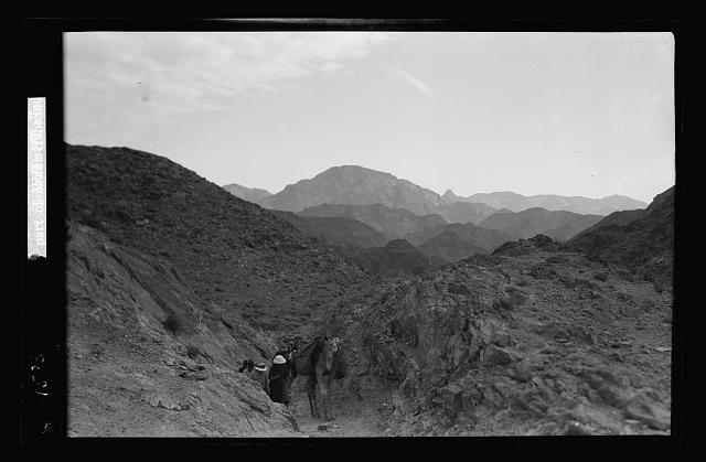 To Sinai via the Red Sea, Tor, and Wady Hebran. Upper part of Wady Hebran