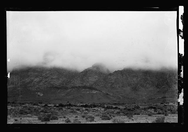 "To Sinai via the Red Sea, Tor, and Wady Hebran. Sinai mountains ""in smoke"", mist"