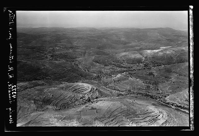 Air views of Palestine. Various points of interest around Jerusalem. Wady Ismail. The R.R. valley approaching Jerusalem from the S.W.