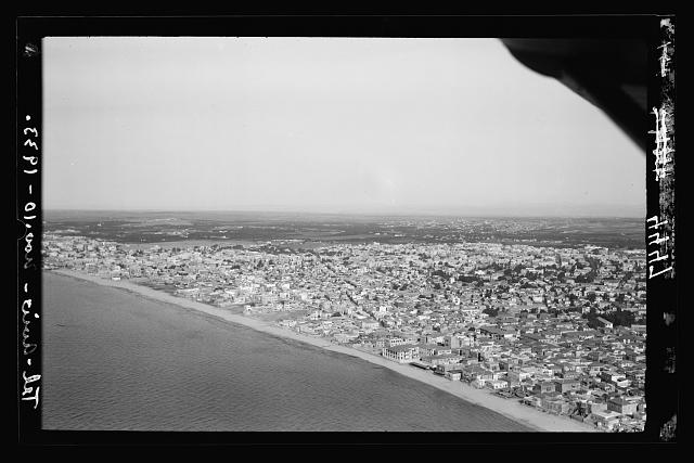 Air views of Palestine. Tel Aviv. Looking N.E., a general view