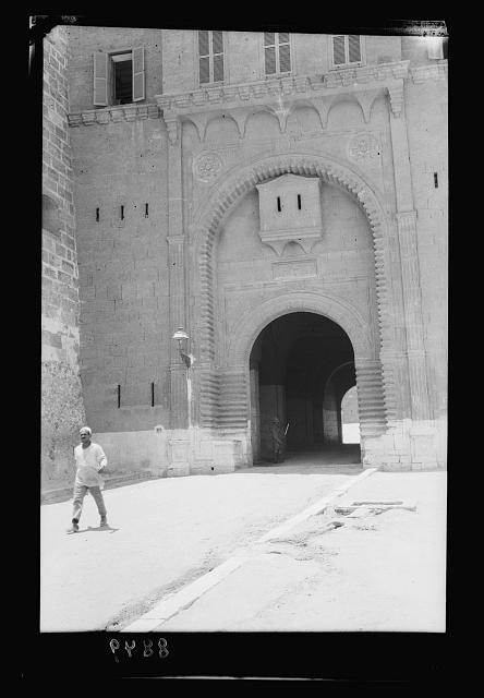 Egypt. Cairo. The Citadel gates, an entrance to the Citadel