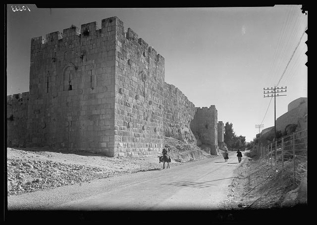 North east corner of the city wall in Jerusalem