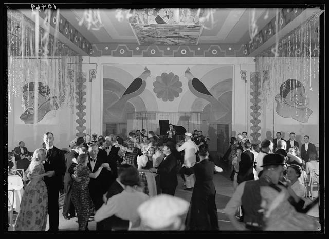 Shrove Tuesday, Feb. 21, 1939 celebration in King David Hotel, fancy dress ball
