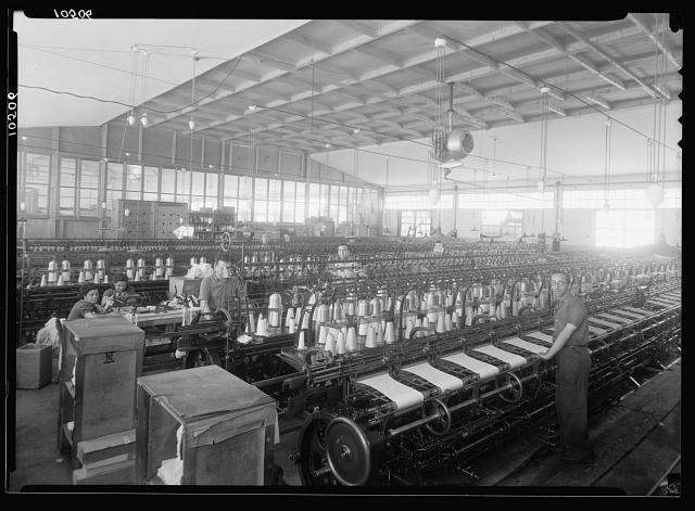 "Jewish factories in Palestine on Plain of Sharon & along the coast to Haifa. The Lodzia Textile Co. in Holon settlement (meaning sandy). Stocking ""cotton"" room"