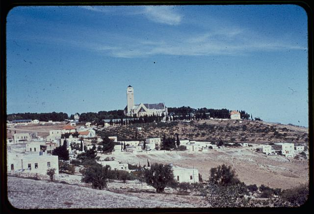 Mount of Olives, Bethphage and Bethany. Augusta Victoria Hospital (Lutheran) on Mt. of Olives