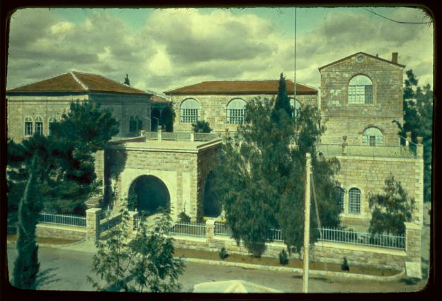 Buildings in Jerusalem. The American Colony, main building
