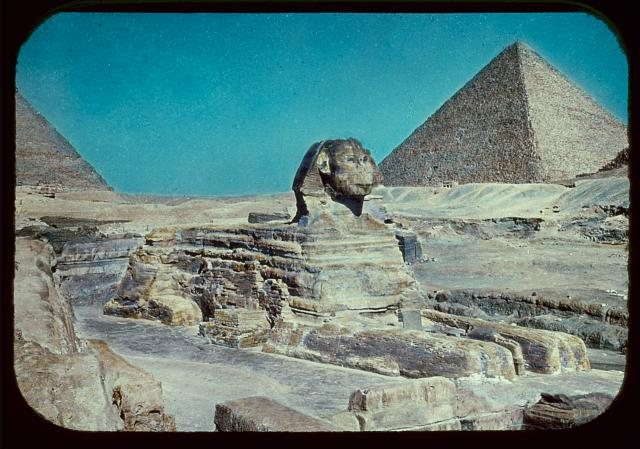 Cairo and the pyramids. Pyramids and the Sphinx. Taken from the S.E.