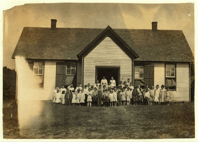 Anthoston School which opened September 5th. 54 present out of an enrollment of 62; Census 84. Work is interfering. See photo of school 2 weeks before it opened.  Location: Henderson County, Kentucky