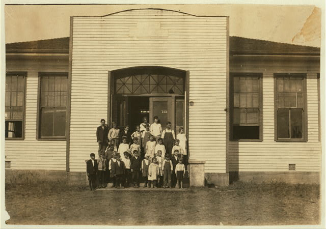 Acme School #24 (4 miles northwest of Shawnee): Miss Lois Millard, Principal. (P.O. Dale, Okla., Route 1). 26 present, 40 expected after all families return from southern part of the state where they have been picking cotton. Lewis W. Hine. See W. H. Swift Report.  Location: Potawotamie County, Oklahoma.