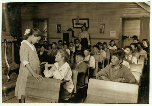 Daily inspection of teeth and finger nails. Older pupils make the inspection under the direction of teacher who records results. This has been done every day this year. School #49, Comanche County.  Location: Lawton [vicinity], Oklahoma