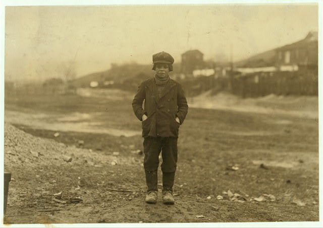 Angelo Ross, 142 Panama Street, Hughestown Borough, a youngster who has been working in Breaker #9 Pennsylvania Co. for four months, said he was 13 years old, but very doubtful. He has a brother, Tony, probably under 14 working.  Location: Pittston, Pennsylvania.