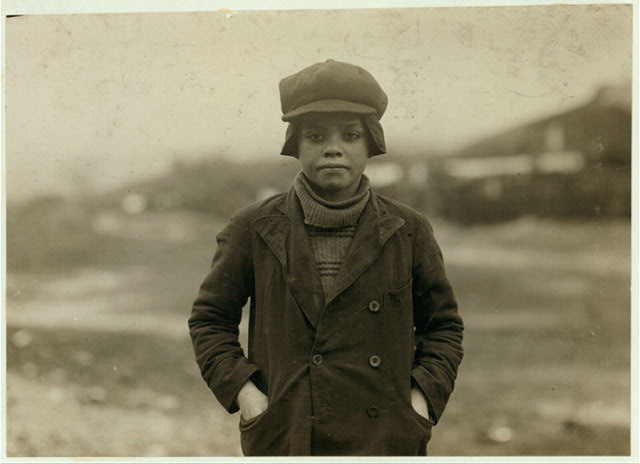 Angelo Ross, 142 Panama Street, Hughestown Borough. A youngster who has been working in Breaker #9 Pennsylvania Company for four months, said he was 13 years old, but very doubtful. He has a brother Tony probably under 14, working.  Location: Pittston, Pennsylvania.