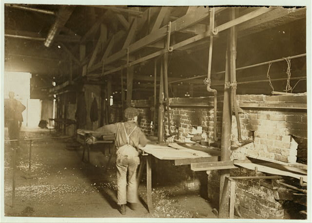 Day Scene in an Indiana Glass Works.  Location: Indiana.