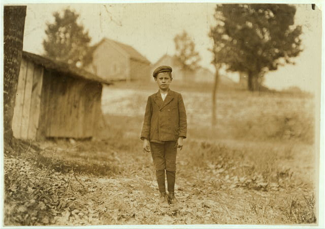 "Eugene Bell, House 48 Loray Mill. Said he was 12 years old. (question). ""Leastwise that's what mother says."" (I am convinced that many children believe they are as old as they say they are,--their parents have misstated their ages so long.) Worked most two years--sweeping.  Location: Gastonia, North Carolina."