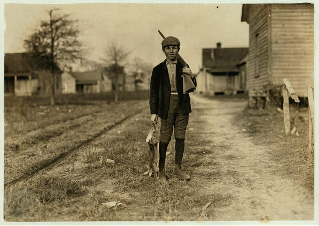 Dillon (S.C.) Mills. Charley Baxley. Has doffed 4 years. Gets 50 cents. Had been out hunting.  Dillon, South Carolina.