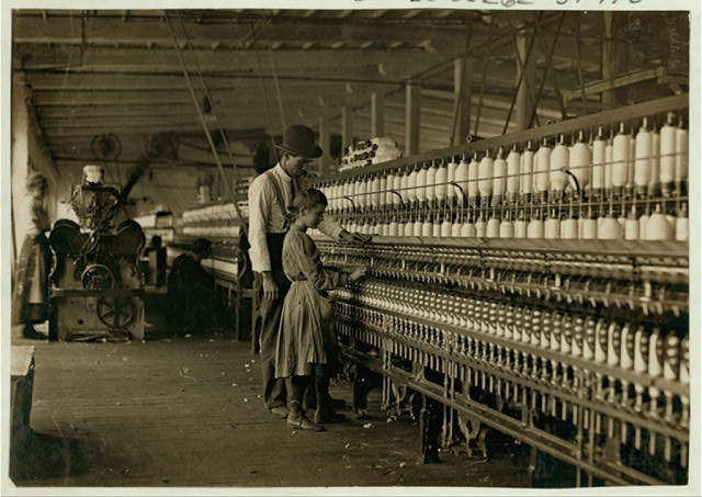 The superintendent and one of the spinners, Catawba Cotton Mills, Newton, N.C. Others smaller still. Ten boys and girls this size and smaller out of a force of 40 employees.  Location: Newton, North Carolina.